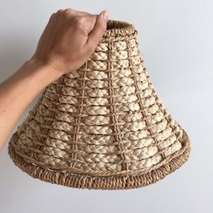Natural Seagrass & Whicker Lampshade